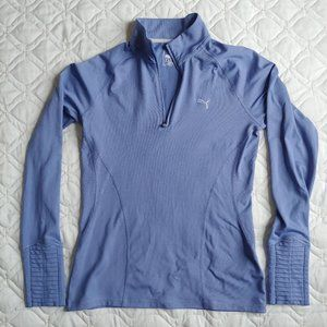 Puma Golf Blue Quarter Zip Long Sleeve Top